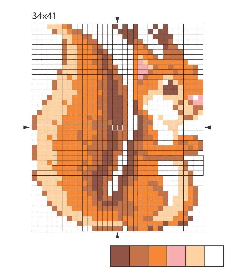 Схема вышивка крестом белка 22