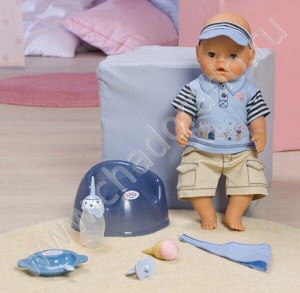Кукла BABY BORN - ВОЛШЕБНОЕ КОРМЛЕНИЕ, мальчик (43 см, с аксессуарами)