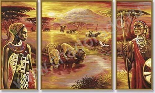 Жирафы раскраска