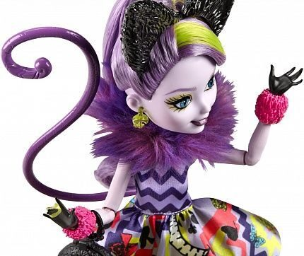 Ever After High Way Too Wonderland Kitty Chesire Doll_4_mini