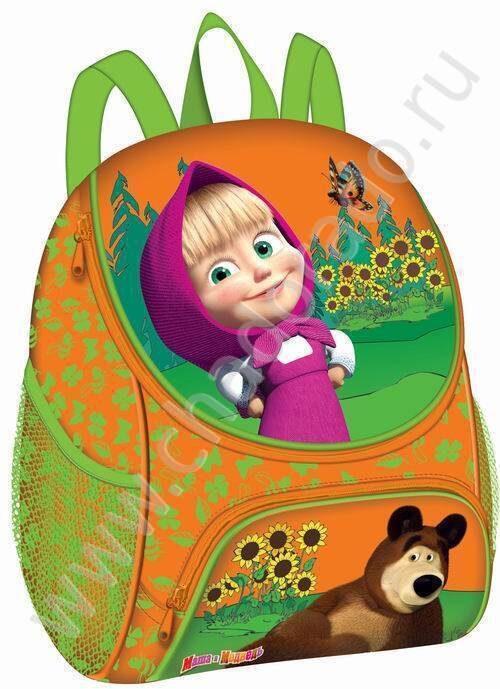 Рюкзак малый Маша и Медведь, оранжевый.  Нажмите, чтобы увеличить.