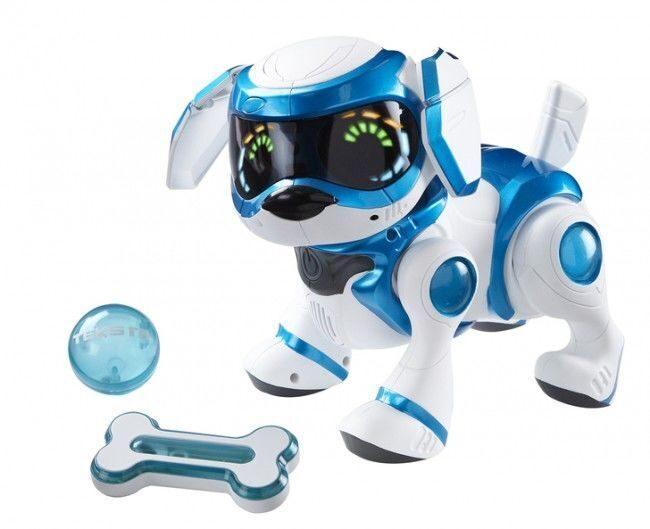 Текста - интерактивная собака ГОЛУБАЯ | Робот-щенок Teksta