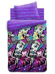 КПБ 1,5 поплин Monster High Молнии (70*70)